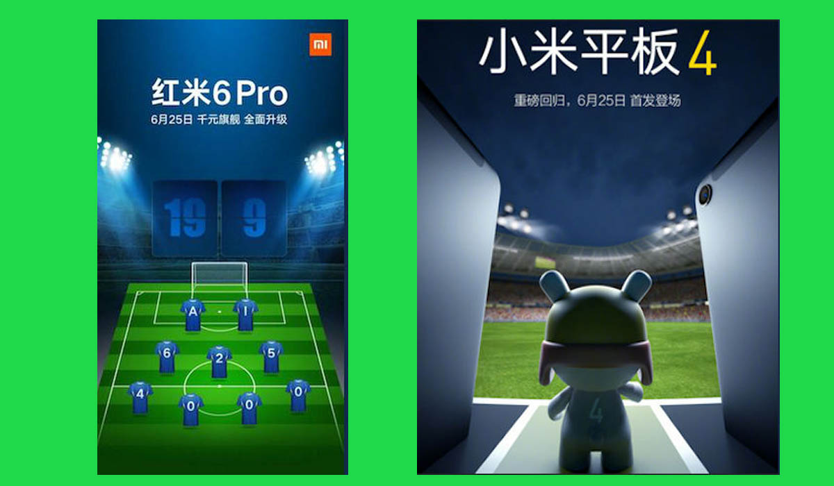 Xiaomi Redmi 6 Pro, Mi Pad 4 Shomei